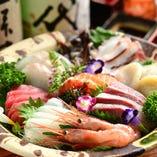 鮮魚の刺し盛り