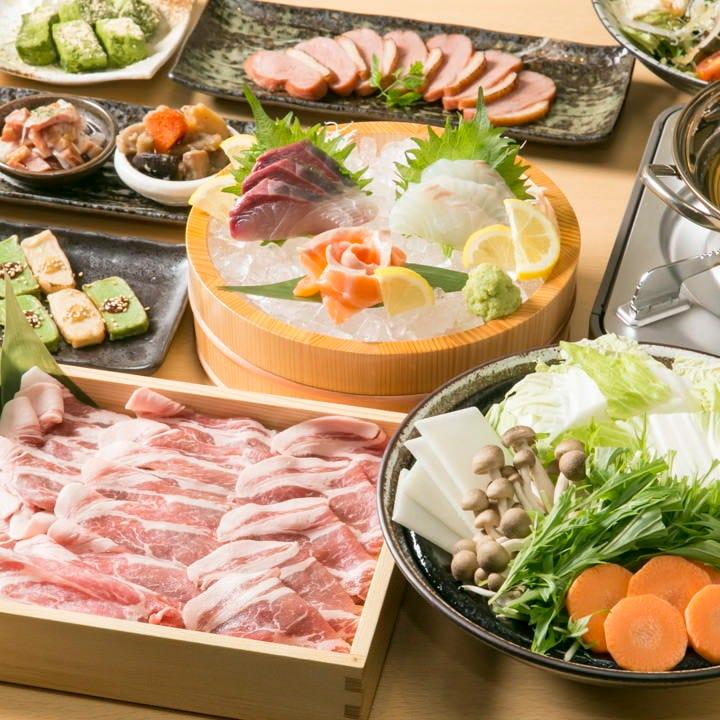 名物のしゃぶしゃぶと共に、京都の食材を堪能していただけます
