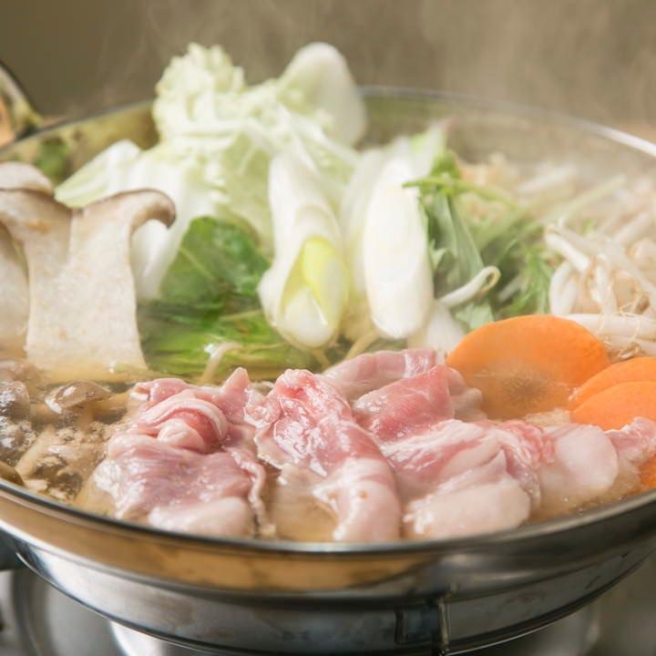 茶美豚の旨みが溶け出したお鍋は心も身体も温まる逸品です