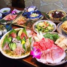 沖縄豚と牛の贅沢鍋コース♪
