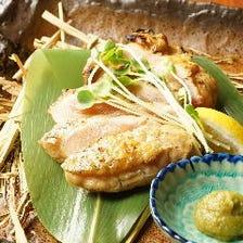 阿波尾鶏のもも肉の藁焼きたたき