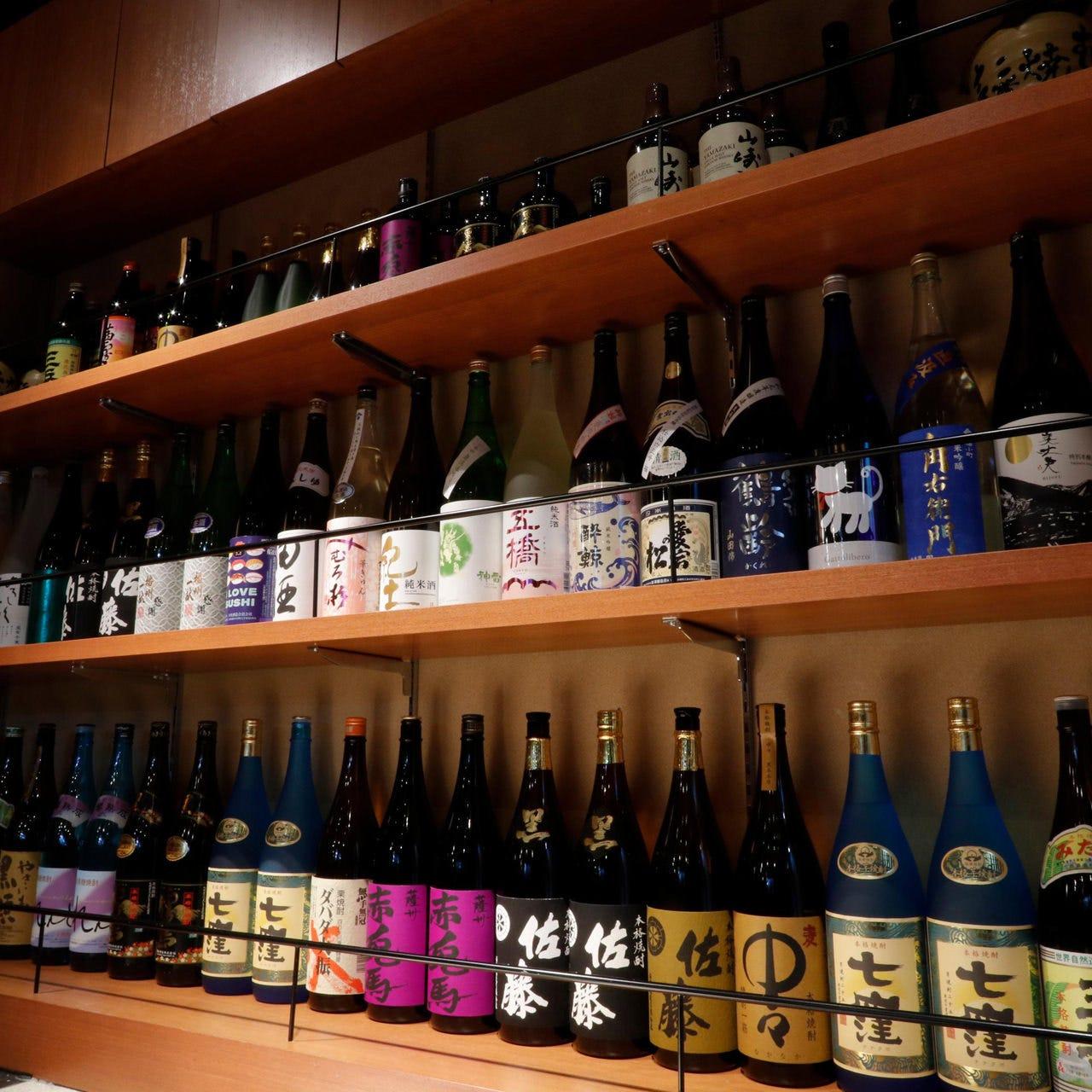 種類豊富な日本酒・焼酎