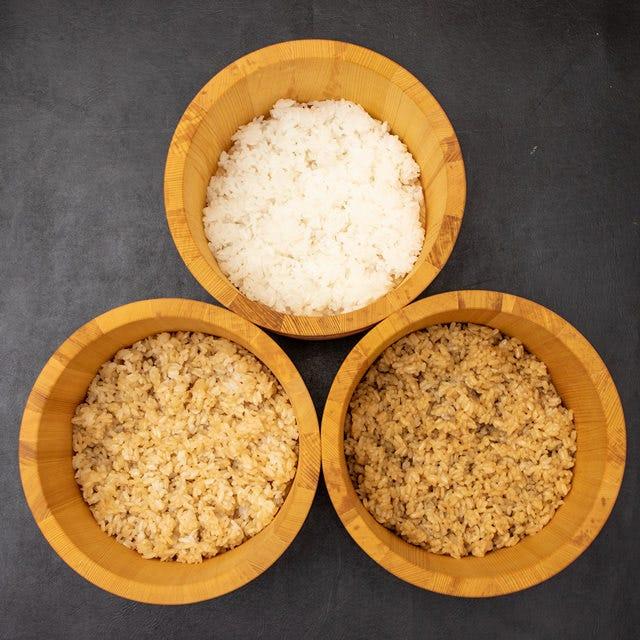 こだわりの三種の米と3種の酢