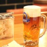 ジューシーなとんかつと、ビールの相性◎