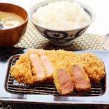鹿児島黒豚ロース&ヒレかつ定食