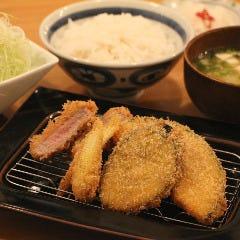 ヒレ&野菜かつ定食