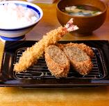 海老フライ&メンチかつ定食