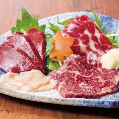 桜肉 三種盛り