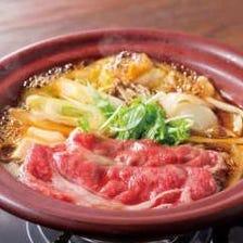 【ショート接待・会食】前菜盛合せと黒毛和牛すきやき会食