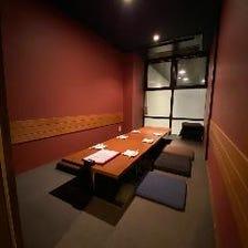 個室×4部屋あります