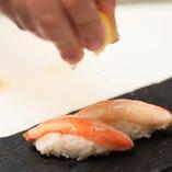 本ずわい蟹と檸檬塩の握り