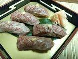 信州牛炙り握り寿司