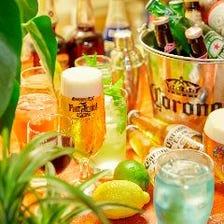 ビールやカクテルが豊富な宴会プラン