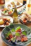 新鮮お造りとおまかせ料理のコース 3500円