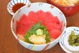 鉄火丼(あら汁・香の物)