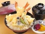 大海老天丼(味噌汁・香の物)