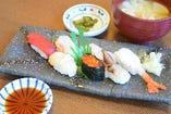 あすと寿司(あら汁・香の物)