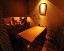 暖かい雰囲気のある個室