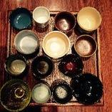 日本酒のぐいのみはお選びいただけます