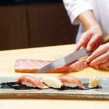 職人の確かな腕による寿司