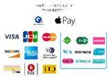 クレジットカード、電子マネー、交通系、QRまで!