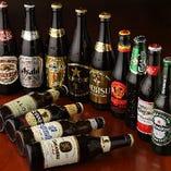 豊富なドリンクメニュー!ビールだけでも15種類以上!