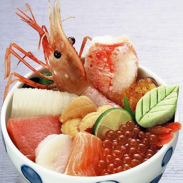 こだわりの「海鮮丼」