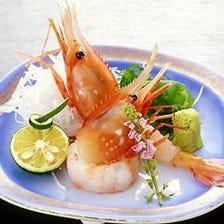 新鮮魚貝を心行くまでご堪能ください