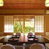【小間/2~8名様×2部屋】伝統的な和の設えが粋でお茶室のような空間に「山吹・百合」