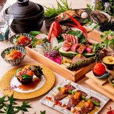 季節を感じる色鮮やかなコース料理