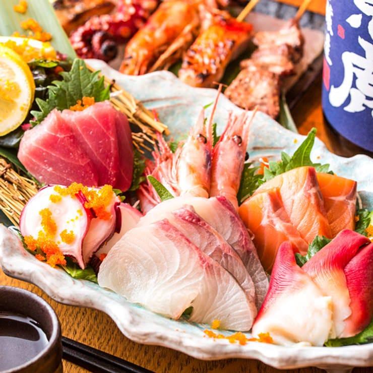 毎朝仕入れる新鮮な海の幸は自慢の逸品です。日本酒との相性も◎
