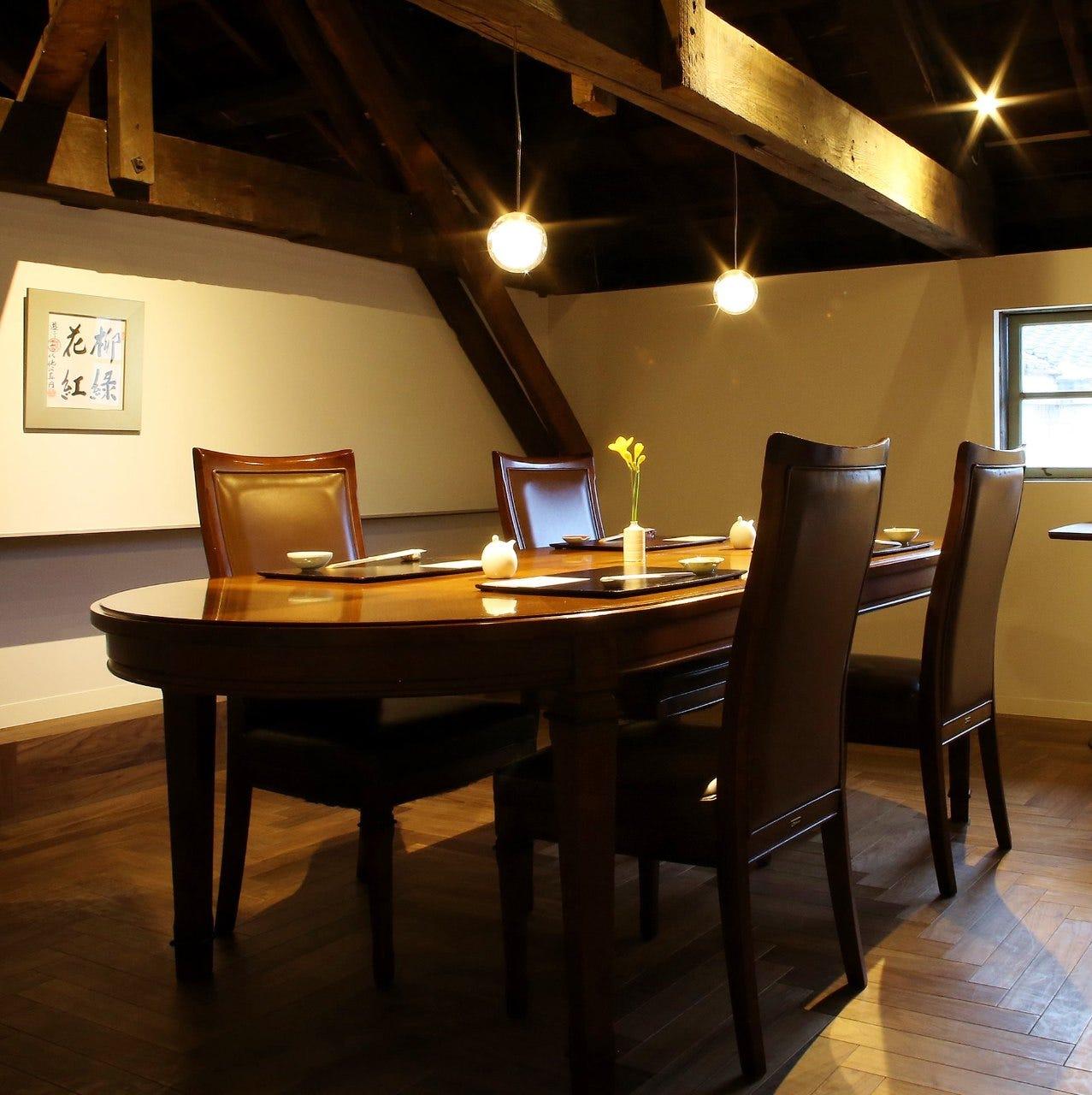 二階へと続く会談を上ると 大切な方と大切な時間を過ごす個室
