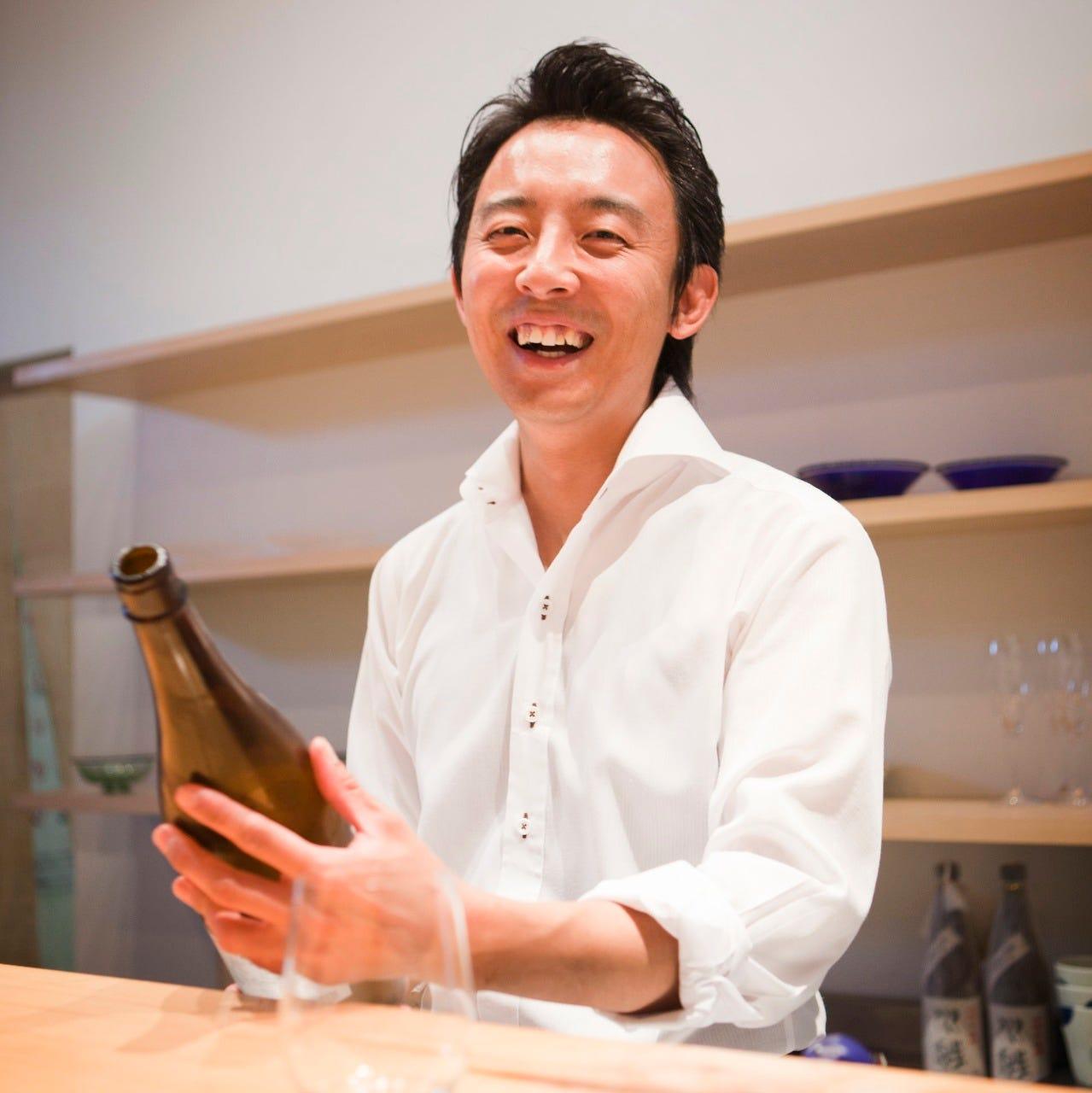 店主が厳選した日本酒と焼酎 旬素材を使用した料理と一緒に♪