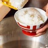 名物銀しゃりは甘みある棚田米を精米しふっくら炊き上げました◎
