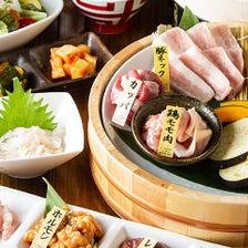 【お料理のみ】気軽に焼肉!黒毛和牛カルビ・かっぱ・豚トロ・鶏肉など全12品『直球ニコニココース』