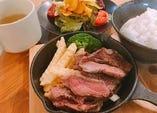 アンガス牛ステーキランチ(サラダ・スープ付)