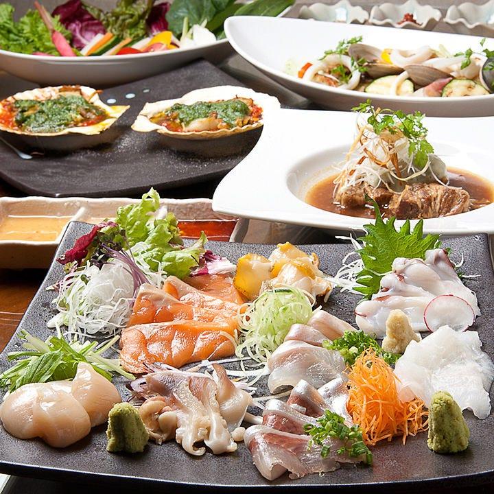 日本酒や焼酎はもちろん、 ワインにも合う料理がたくさん!