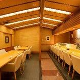 明るく広々とした空間でお食事をお楽しみください