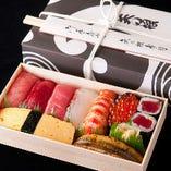 ご家族のお土産に江戸前寿司の折り詰めはいかがでしょうか?
