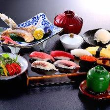 焼魚と寿司セット