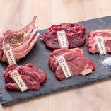 ラム肉5種盛り合わせ[もも・ロース・上肩ロース・ヒレ・ラムチョップ]【追加】