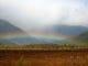 戦場が原の草紅葉と虹