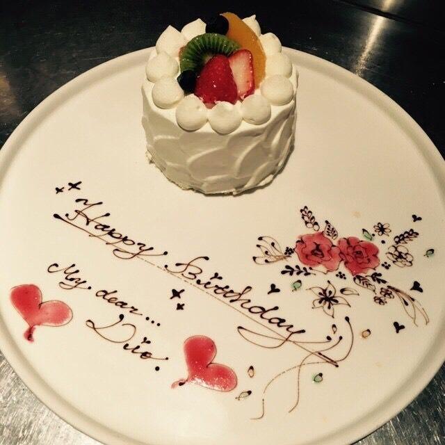事前にご予約をいただければ特製ケーキをご用意いたします。