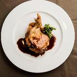 鶏もも肉のロティ ディアブル風