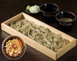 純国産十割蕎麦 会津のかおり もり蕎麦/つけ汁・純ごま汁・北海道産たこ飯付