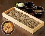 国産十割玄蕎麦  もり蕎麦/つけ汁・純ごま汁・北海道産たこ飯付