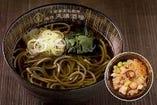 国産十割玄蕎麦 かけ蕎麦/つけ汁・純ごま汁・北海道産たこ飯付