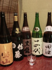 すわ庵自慢の日本酒と焼酎