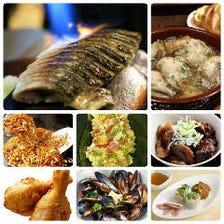 地域有数のクオリティのコース料理