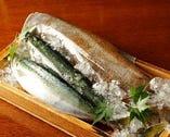【鮮度バツグンの季節の鮮魚~一例~】 むろあじ・しまあじ・カンパチ・赤いかなど